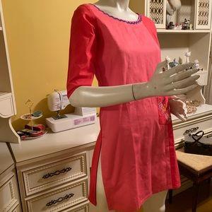 Vintage colour block tunic.